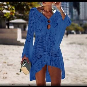 👙🧢1 Left - Stunning Blue Swimsuit Cover Up